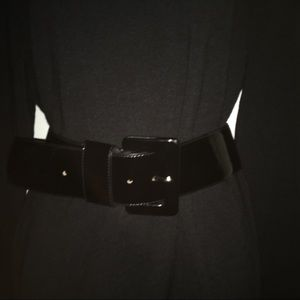 """Ann Taylor Wide Patent """"Leather"""" Belt Size Small"""